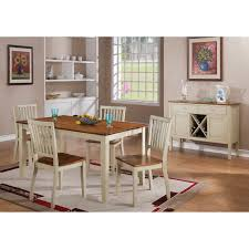 steve silver 5 piece candice two tone dining table set hayneedle