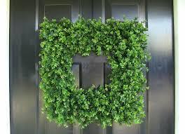 artificial boxwood wreath front door wreath square boxwood wreath by elegantwreath