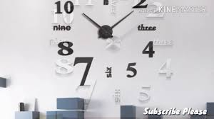 Clock Design Diy Room Decor Diy Acrylic Wall Clock Design Elegant And Modern