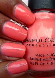 the sequined nail sinful colors island coral