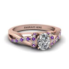 amethyst engagement ring custom by artistic purple engagement rings at reasonable price in