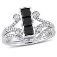 black diamond bridal set black diamonds collections zales