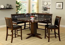 faux marble dining room table set black faux marble top counter height dining table set with bench