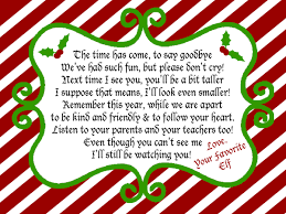 elf on a shelf goodbye note for christmas eve surprise your