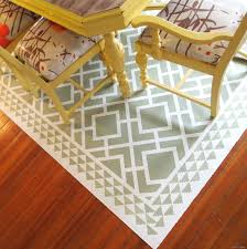diy dining room area rug painted linoleum daydream