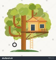 tree house house on tree kids stock vector 324275468 shutterstock