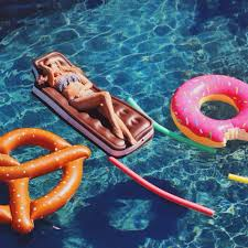 Inflatable Pool Floats by Donut And Pretzel Inflatable Pool Toys Giant Style Essentials