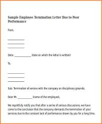 7 termination of employment letter adjustment letter