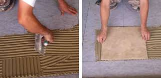How To Install Hardwood Floors On Concrete Without Glue - how to lay a tile floor today u0027s homeowner