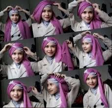 tutorial jilbab segi 4 untuk kebaya 90 kumpulan tutorial jilbab segi empat wisuda sayang dilewatkan