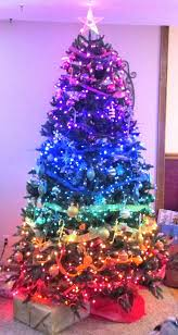 tree decorations blue and pink ne wall