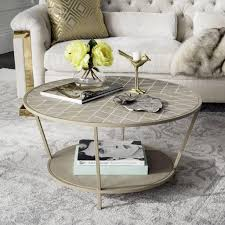 shagreen round coffee table modern faux shagreen round coffee table safavieh com