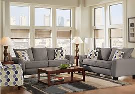 shop for a bonita springs 7 pc gray living room at rooms to go