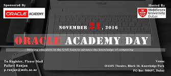 oracle academy day for faculty middlesex university dubai