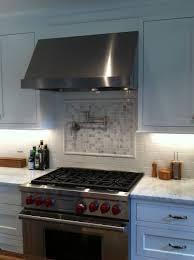 best fresh stainless steel backsplash behind gas stove 8728