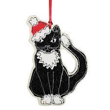 christmas cat decoration by poppy treffry notonthehighstreet com