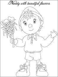 printable cartoon noddy coloring books kids