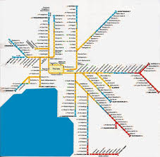 Metro Rail Map by Melbourne Metro Rail Map Melbourne Metropolitan Area Map Australia