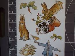 mr mcgregor s garden rabbit 12 beatrix potter rabbit big stickers mr mcgregor s garden