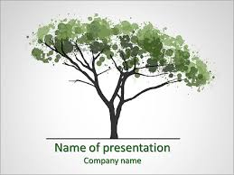water colors tree powerpoint template u0026 backgrounds id 0000005828