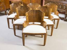 art deco dining chairs awesome antique 6 art deco burr walnut