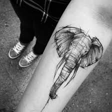 25 beautiful geometric elephant tattoo ideas on pinterest