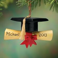 personalized glass graduation ornament class of 2015 tassel