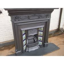 Cast Iron Fireplace Insert by Cast Iron Surroundscs20 Stunning Original Victorian Edwardian Cast