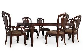 old world dining room tables seven piece traditional 106 dining set in rich pomegranate