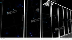 data center servers data center servers glass fronted flashing lights tracking shot