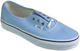 light blue vans shoes vans footwear women s authentic lace up pastel color light blue 514