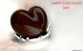happy chocolate day chocolate heart picture