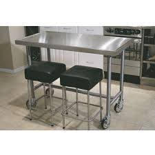stainless steel kitchen island with seating kitchen carts kitchen islands work tables and butcher blocks