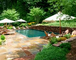 exterior beauty modern backyard waterfall decor with ponds also