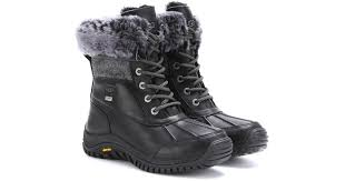 ugg s adirondack tweed boots white ugg adirondack tweed shearlinglined leather boots in black lyst