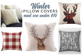 insanely affordable winter throw pillows options for every style