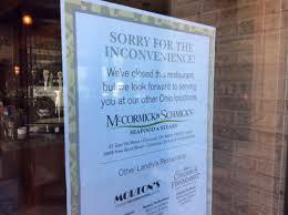mccormick u0026 schmick u0027s restaurant closings across united states