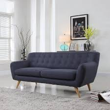 Navy Blue Tufted Sofa Sofa Blue Suede Couch Dark Blue Couch Velvet Tufted Couch Gray