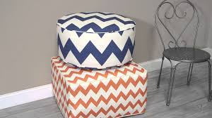 valencia indoor outdoor square pouf ottoman 25 x 25 in youtube