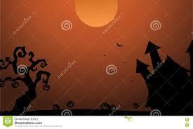 scenery halloween castle pumpkin bat silhouette stock vector