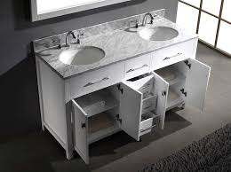 Virtu Bathroom Accessories by Virtu Usa Md 2060 Wmro Wh Caroline 60 Inch Bathroom Vanity With