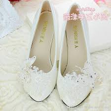 wedding shoes low heel ivory handmade ivory pearl lace wedding shoes butterfly flat 4 5cm
