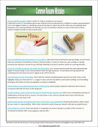 Resume For The Job by 10 Common Resume Mistakes Most People Make