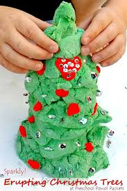 christmas science activity sparkly erupting christmas tree