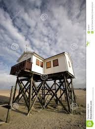 Small Beach House On Stilts Wooden House On Stilts Royalty Free Stock Photography Image 6246597