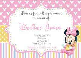Baby Invitation Card Disney Baby Shower Invitations Wblqual Com