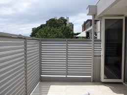 decoration with gray metal fences apartment balcony privacy screen