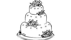 coloring pages cake with rose coloring book fun videos for kids