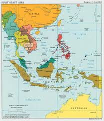 us map equator south and east asia political map major tourist