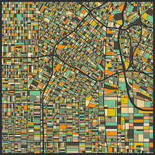 Los Angeles Map Pdf Los Angeles Map Art Print Mr City Printing Touch Of Modern Los